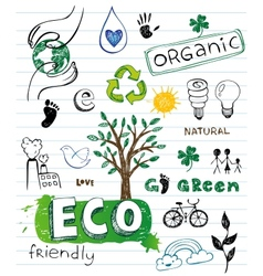 Eco friendly Doodles vector