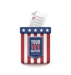 Election ballot box vector image