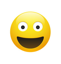 emoji yellow smiley face with eyes vector image