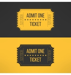 Entry ticket in stylish vintage style Admit one vector
