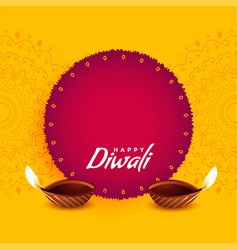 Festival greeting design for diwali vector