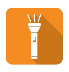 flashlight icon isolated vector image