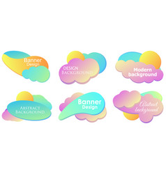 fluid gradient design modern banner set template vector image