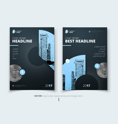 flyer design corporate business report cover vector image