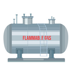 Gas station with ladder flammable text vector