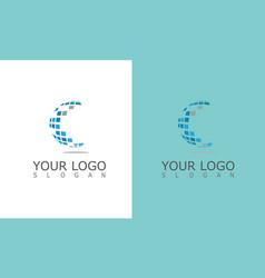 Globe solar logo vector