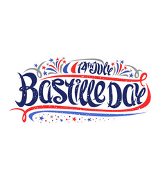 greeting card for bastille day vector image