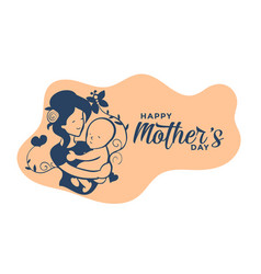 Happy mothers day lovely wishes card design vector