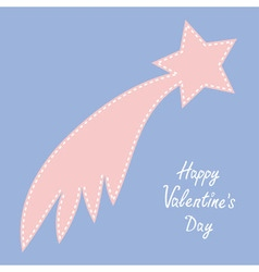 Happy Valentines Day Love card Comet flame with vector