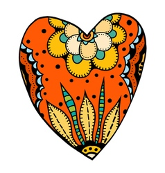 heart in floral style vector image
