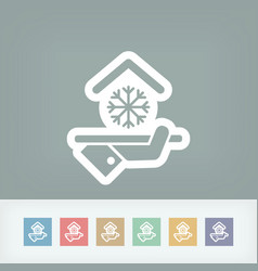 hotel icon air conditioning vector image