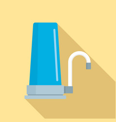 House filter tap icon flat style vector