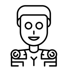 Humanoid icon outline style vector