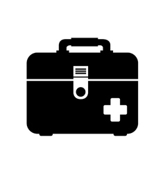 Icon first aid kit medical isolated vector