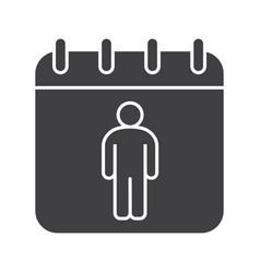 International mens day glyph icon vector