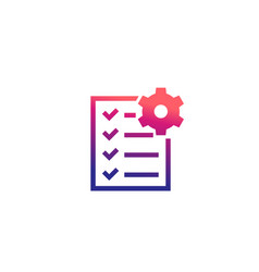Maintenance list icon vector
