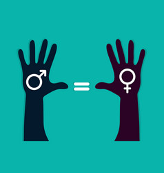 Male female equality vector