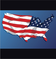 map of the united states of america states vector image vector image