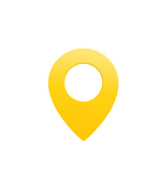 map pointer pin icon on white vector image