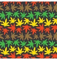 Marihuana ganja weed seamless pattern rasta vector