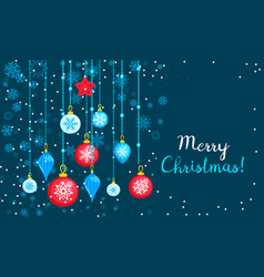 merry christmas toy tree concept banner flat vector image