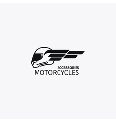 Motorcycles accessories black logotype vector image