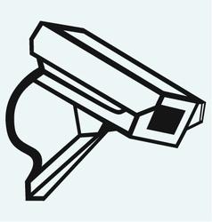 Outdoor surveillance camera vector