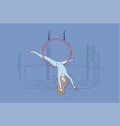 perfomance sport art acrobatics air concept vector image