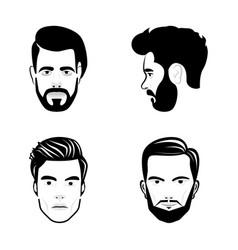 portrait sketch icons vector image