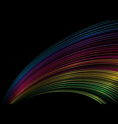 rainbow stripe Saturn vector image