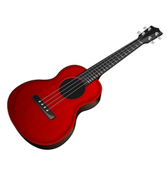 Red ukulele vector
