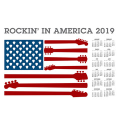 rocking in america a 2019 calendar vector image