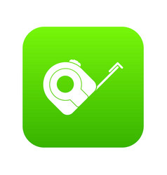 Roulette construction tool icon digital green vector