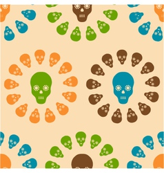 seamless pattern of skulls vector image