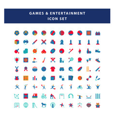 set game and entertainment icon with flat vector image