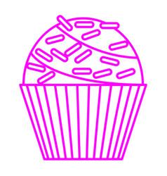 Sprinkles cupcake vector
