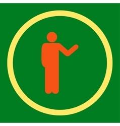 Talking person icon vector
