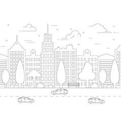 thin line city landscape vector image