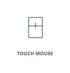 touch mouse line icon linear concept vector image