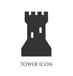 tower symbol icon isolated on white background vector image