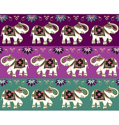 Traditional indian elephant background vector