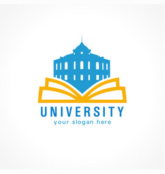 University open book vector