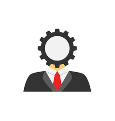 user setting flat icon vector image