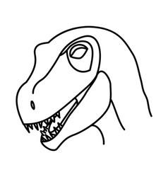 utah raptor icon doodle hand drawn or black vector image