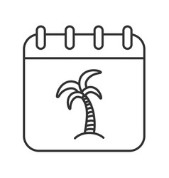 vacations linear icon vector image