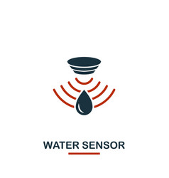 water sensor icon from sensors icons collection vector image