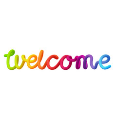 Welcome neon spectrum inscription isolated on vector
