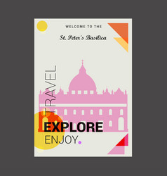 Welcome to the st peters basilica italy explore vector