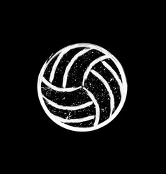 White grunge dotted volleyball vector