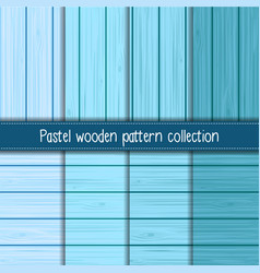 Wooden pattern collection vector